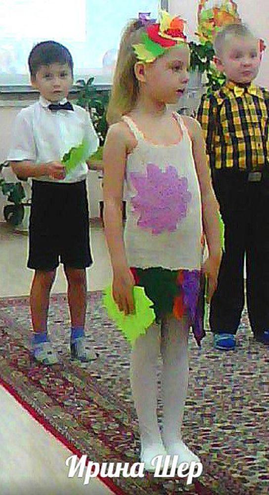 костюм на осенний бал, платье крючком, праздники, осенний костюм крючком, листья крючком