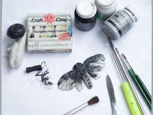 Лепим бабочку из полимерной глины. Ярмарка Мастеров - ручная работа, handmade.