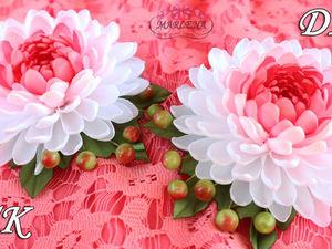 DIY Video: a Ribbon Flower. Livemaster - handmade