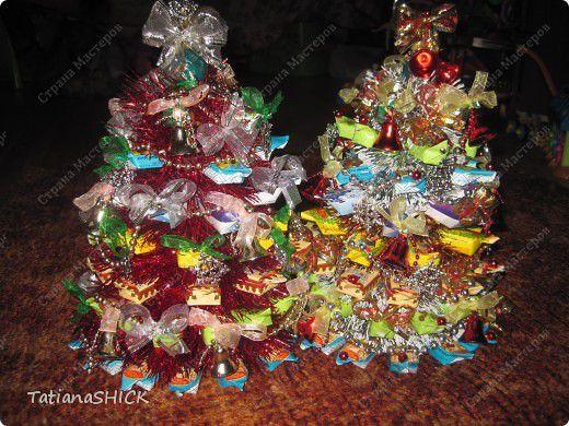 Мастер-класс: МК елочка  из конфет Новый год. Фото 11