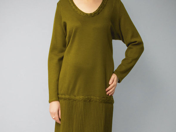 Аукцион на вязаное платье 60 размера | Ярмарка Мастеров - ручная работа, handmade
