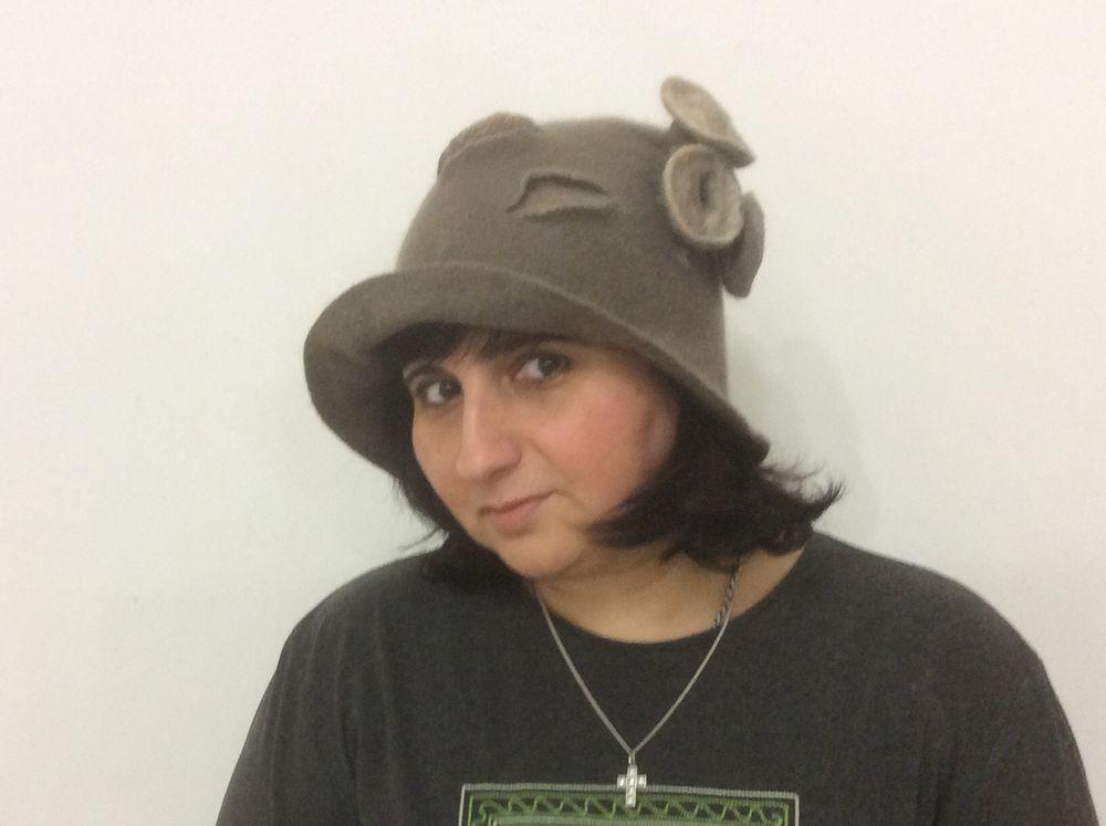 Головные уборы из шерсти: шапочки, шляпки, кепки, береты, фото № 28
