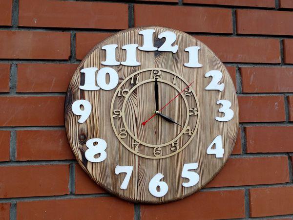 НОВИНКА! Деревянные настенные часы в современную комнату! | Ярмарка Мастеров - ручная работа, handmade