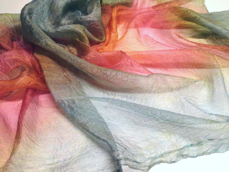 войлок для новичков, нуновойлок, как покрасить шелк