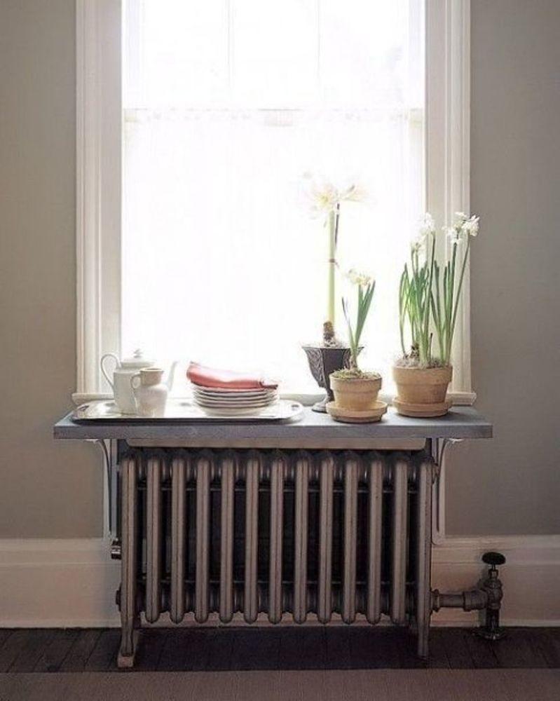 45 идей для декорирования батарей отопления, или Как «замаскировать» радиаторы отопления дома, чтобы не мозолили глаза, фото № 27