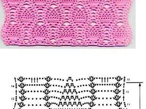 Ажурные узоры крючком со схемами | Ярмарка Мастеров - ручная работа, handmade