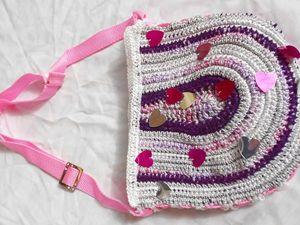 Розовая сумка с сердечками только в июне скидка 50%   Ярмарка Мастеров - ручная работа, handmade