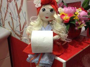 Интерьерная текстильная куколка держательница. Ярмарка Мастеров - ручная работа, handmade.