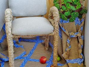 Реставрируем стул в технике спирального плетения из бумажной лозы. Ярмарка Мастеров - ручная работа, handmade.