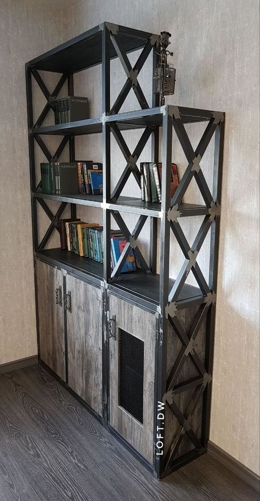 комод в стиле лофт, журнальный стол лофт
