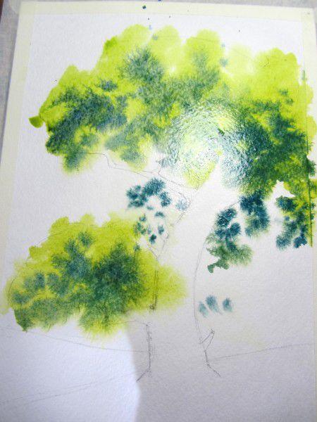 Как нарисовать дерево акварелью, фото № 6