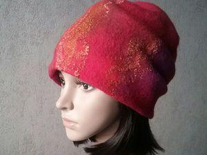 Модная шапочка к новому году! Две модели по одной выкройке | Ярмарка Мастеров - ручная работа, handmade