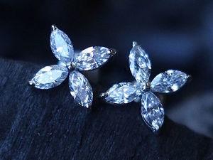 """Серьги """"Stiria"""" с бриллиантами. Ярмарка Мастеров - ручная работа, handmade."""