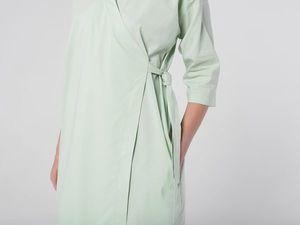 Платье-кимоно YOKU из мятного поплина. Ярмарка Мастеров - ручная работа, handmade.