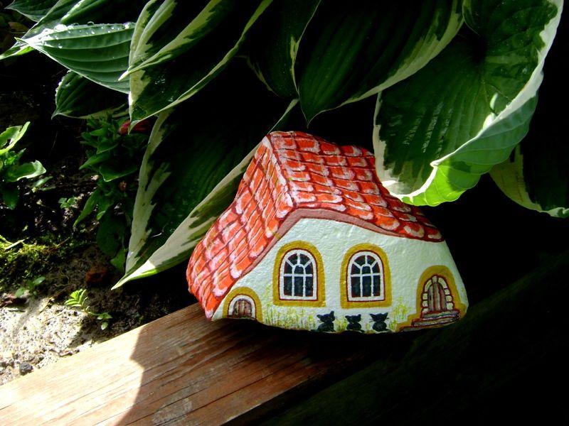 домик из камушка