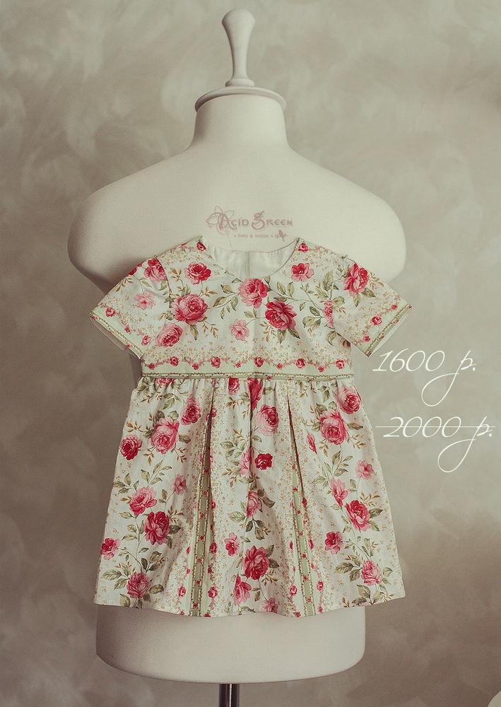 детское платье, платье на заказ, хлопок