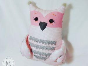 Мастер-класс по изготовлению подушки-игрушки «Совушка Милаша». Ярмарка Мастеров - ручная работа, handmade.