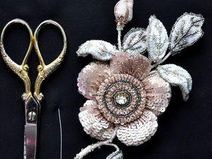 МК по цветку с каркасными элементами. Ярмарка Мастеров - ручная работа, handmade.