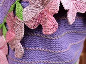 Шаль Лавандовые поля и снуд в клеточку. Ярмарка Мастеров - ручная работа, handmade.