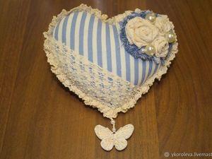 Шьем сердце-игольницу или милое украшение для дома. Ярмарка Мастеров - ручная работа, handmade.