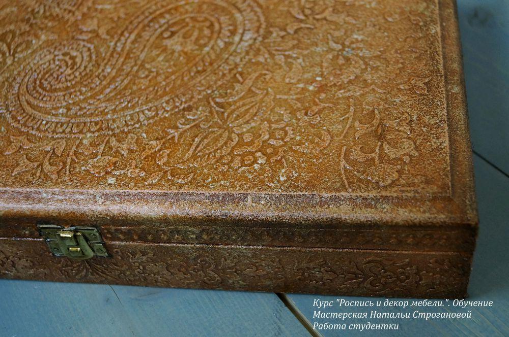 роспись и декор мебели, курс росписи мебели, расписная мебель, мебель с декором