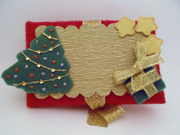 Новогодний текстильный конверт-открытка   Ярмарка Мастеров - ручная работа, handmade