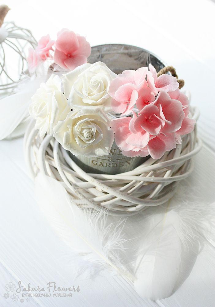свадьба, букет невесты, розовый, интерьерная композиция, шебби-шик ручной работы