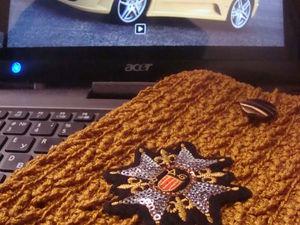 Закулисье творчества: декорирование  вязаных чехлов. | Ярмарка Мастеров - ручная работа, handmade