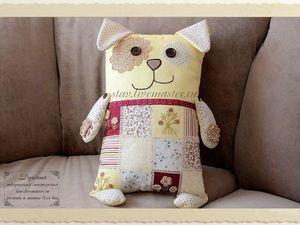 Шьем подушку-игрушку в виде собаки — символа 2018 года | Ярмарка Мастеров - ручная работа, handmade