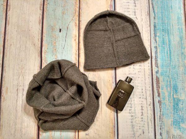 Вяжем шапку и снуд со швами наружу | Ярмарка Мастеров - ручная работа, handmade