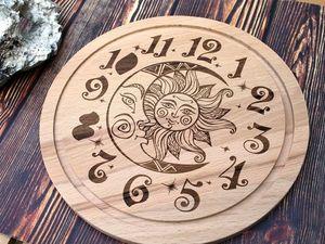 "Анонс настенных часов ""Солнце и Луна"". Ярмарка Мастеров - ручная работа, handmade."