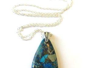 Мозаичный кулон на серебряной цепочке – «Милори». Ярмарка Мастеров - ручная работа, handmade.
