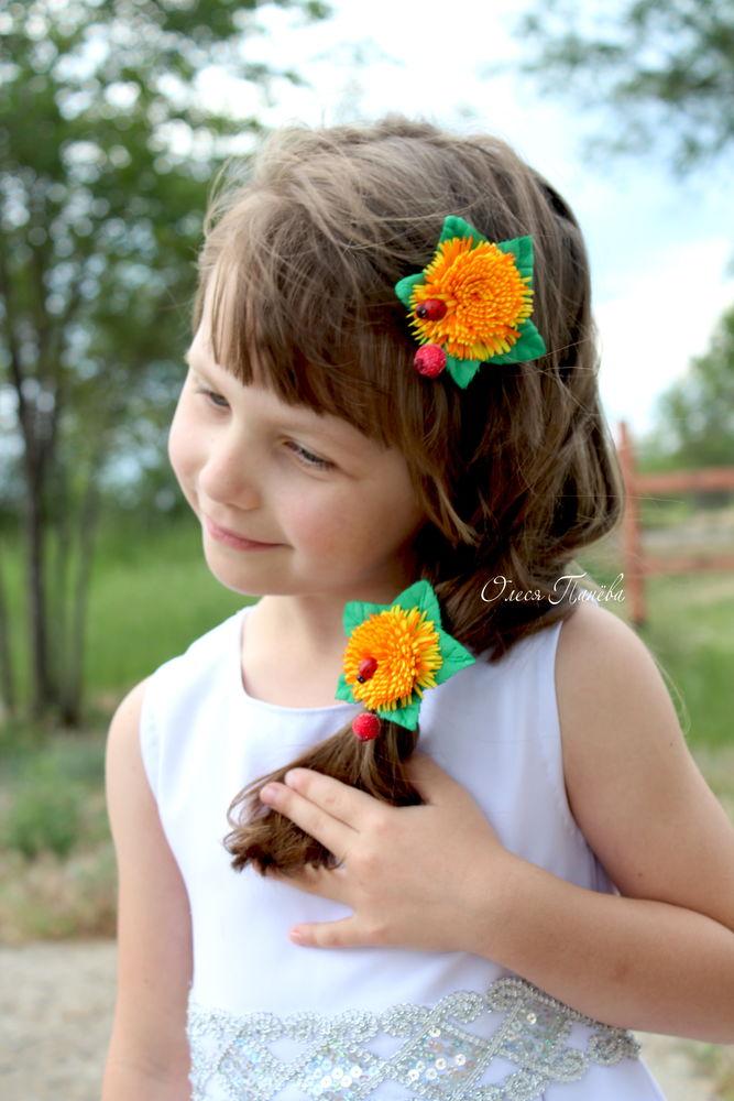 цветы, заколка для волос