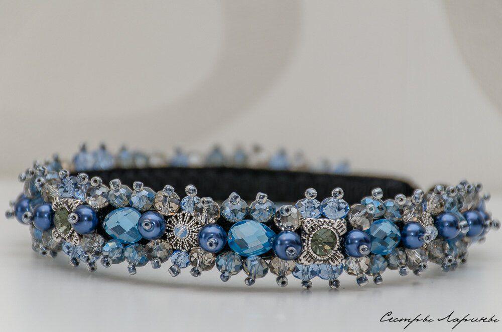 голубой, ободок для волос, корона, тиара, новинка магазина, на фотосессию