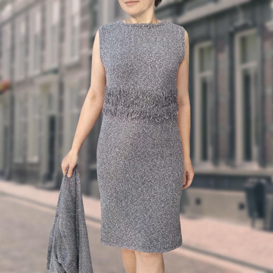 платье вязаное, модный костюм