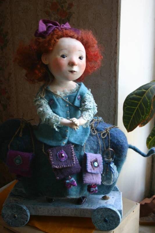 Куклы и игрушки мастера Катерины Козуненко.