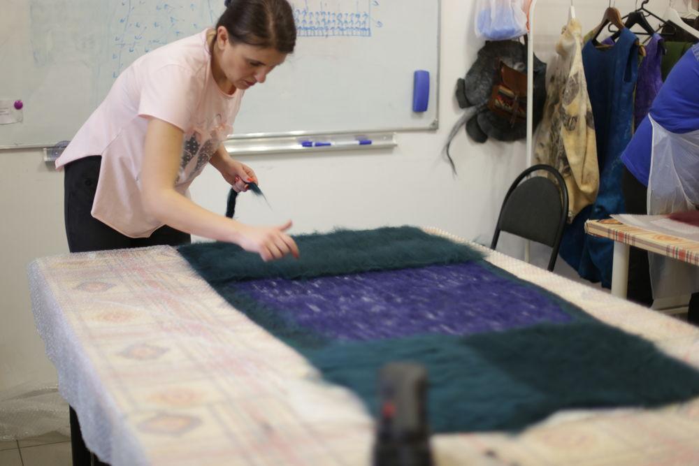 студия валяния, юбка из войлока, джемпер из войлока, валяние с нуля