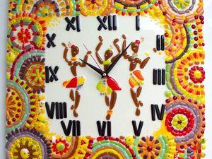 Изготавливаем часы «Африка» в технике фьюзинг. Ярмарка Мастеров - ручная работа, handmade.