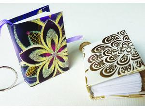 Очень легко и быстро делаем мини блокнот-брелок своими руками. Ярмарка Мастеров - ручная работа, handmade.