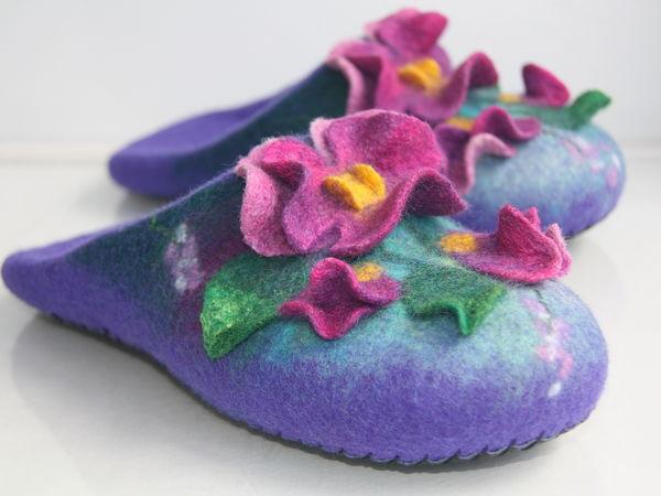 Мастер-Класс тапочки-шлепки с объемным цветочным рисунком. | Ярмарка Мастеров - ручная работа, handmade