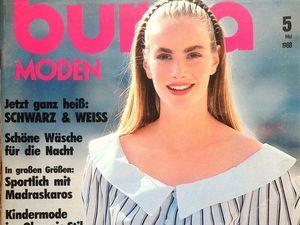 Burda Moden № 5/1988, Немецкое Издание. Ярмарка Мастеров - ручная работа, handmade.