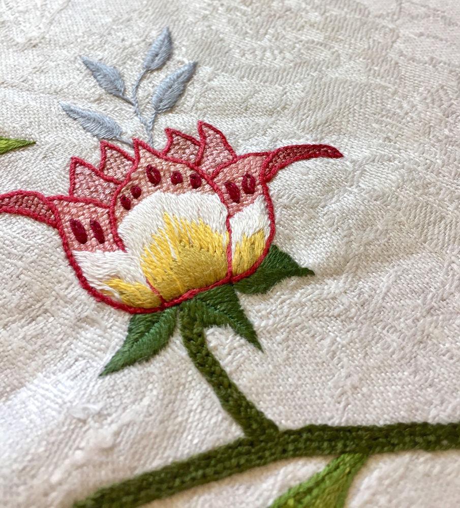 якобинская вышивка, схема для вышивки гладью
