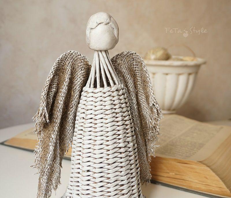 ангел плетеный