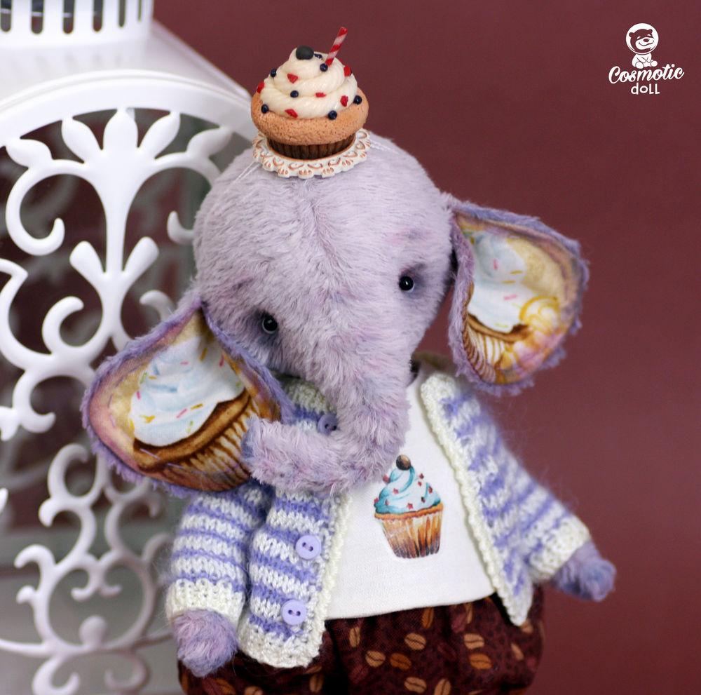 сиреневый слоник, ручная работа