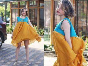 Новое льняное платье. Ярмарка Мастеров - ручная работа, handmade.