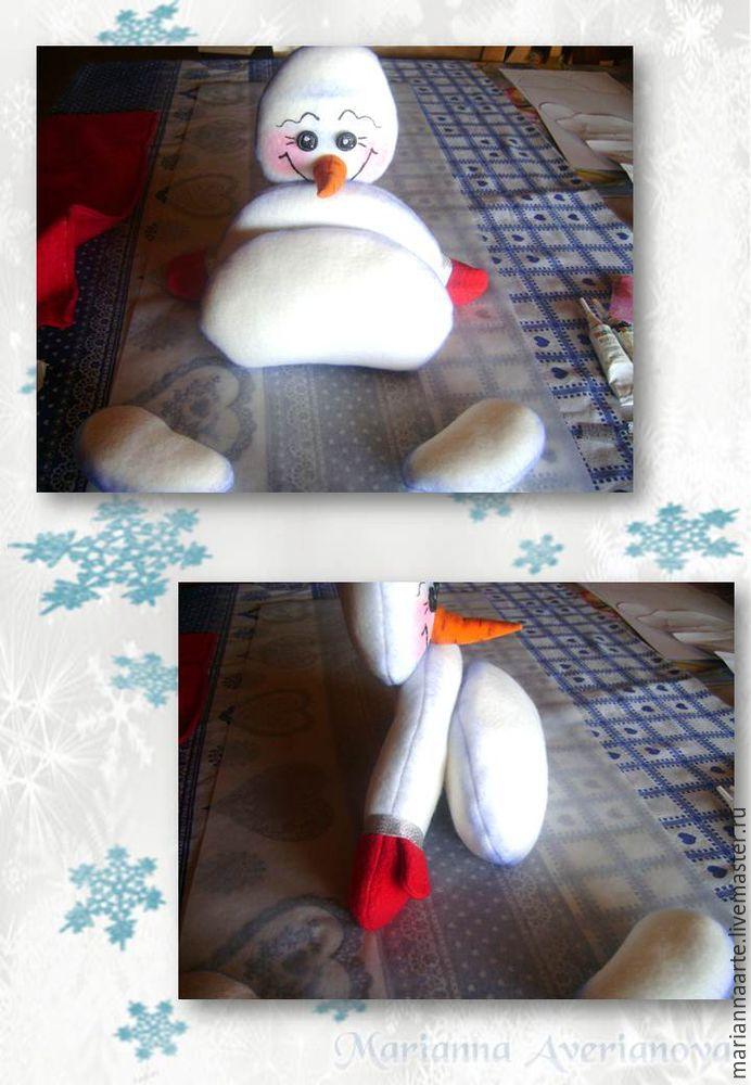 Мастер-класс по созданию забавной новогодней игрушки «Снеговичок-тюфячок», фото № 25