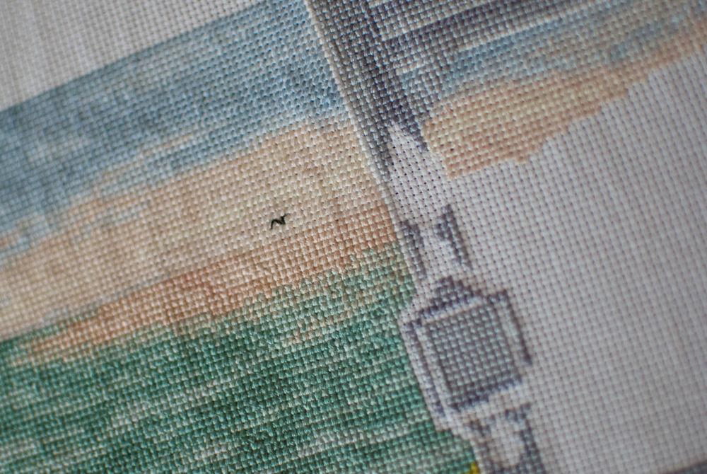 море, вышивка ручная, вышивка крестиком