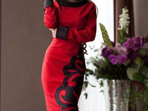 Аукцион на стильное трикотажное платьице!!!Старт 1500 р.!!!. Ярмарка Мастеров - ручная работа, handmade.