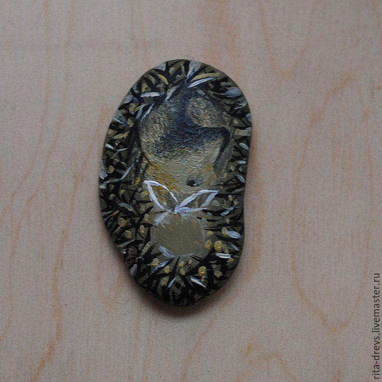 Как сделать из обычного камня обаятельного ёжика, фото № 7
