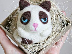 Еще один розыгрыш! Шерстяной котик! | Ярмарка Мастеров - ручная работа, handmade